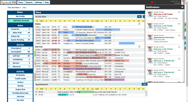 Appointment diary and job scheduling software for facilities management