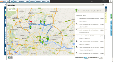 Route Planning location software with job booking planner