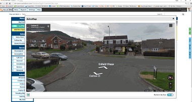 Route planning and visual location CRM software